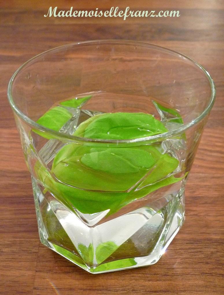 eau au basilic