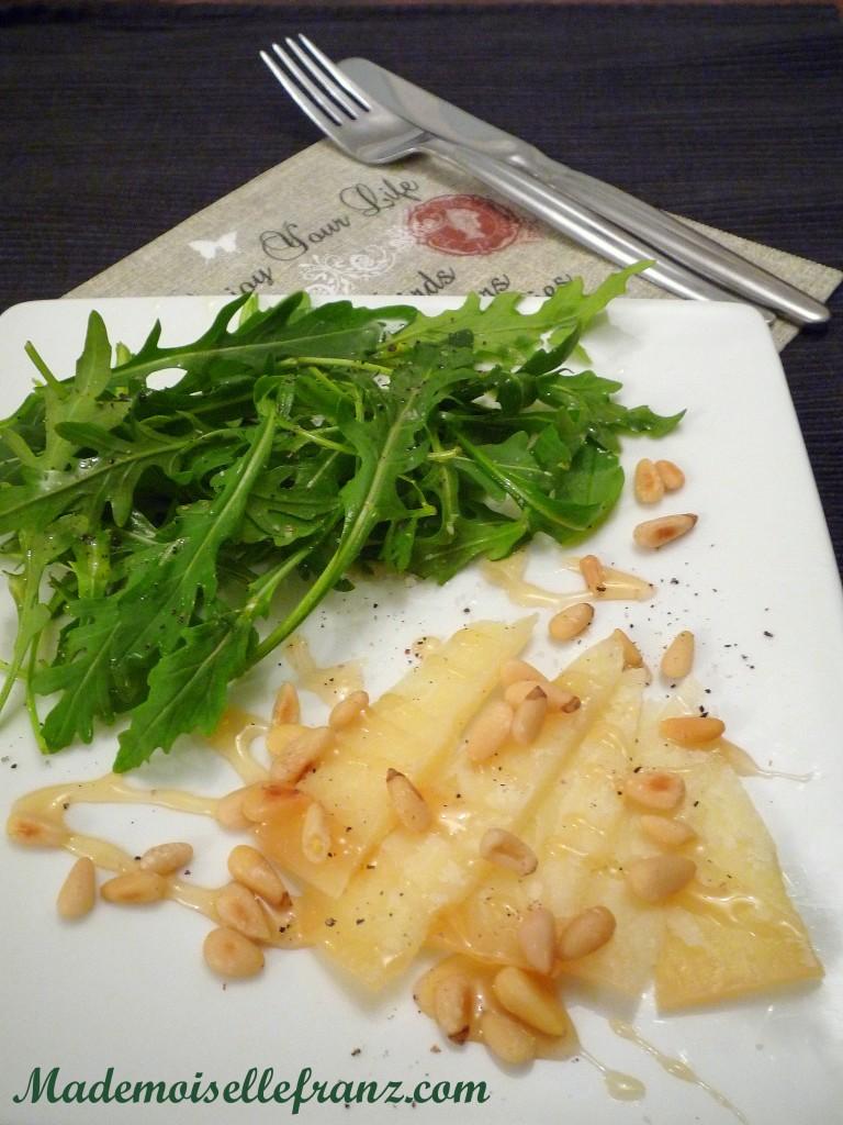 Salade roquette pecorino