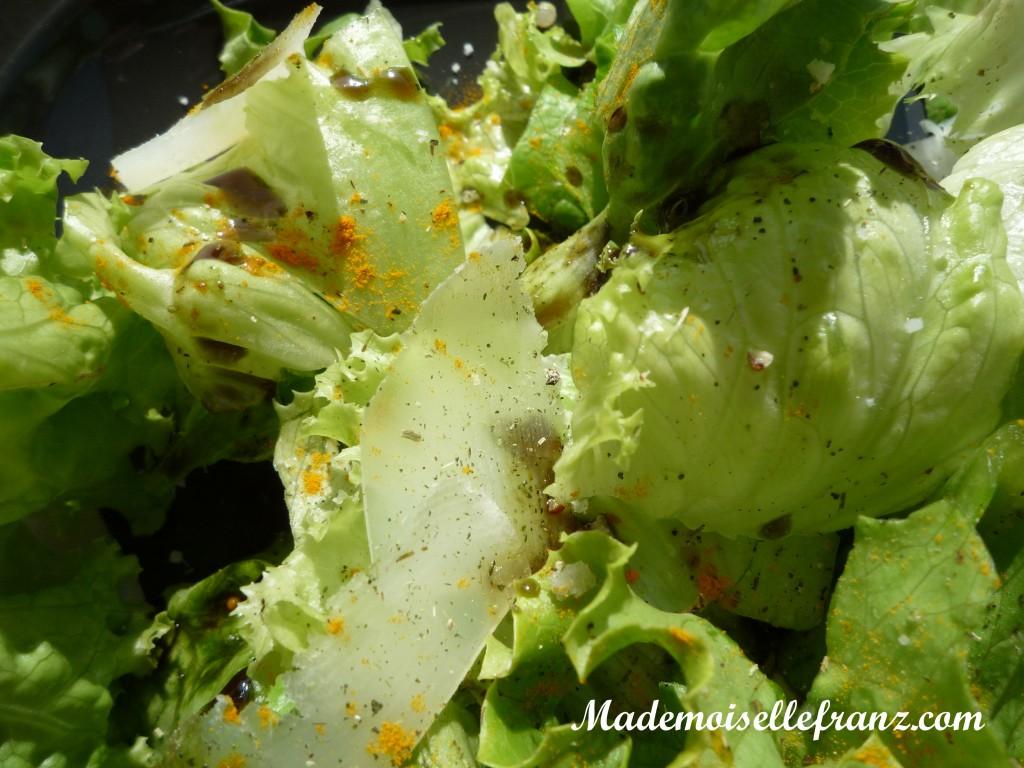 Salade sur le balcon