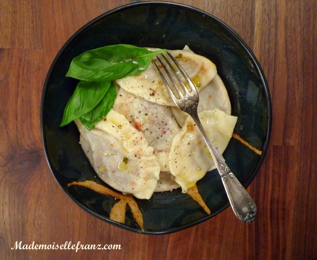 Les raviolis végétaliens