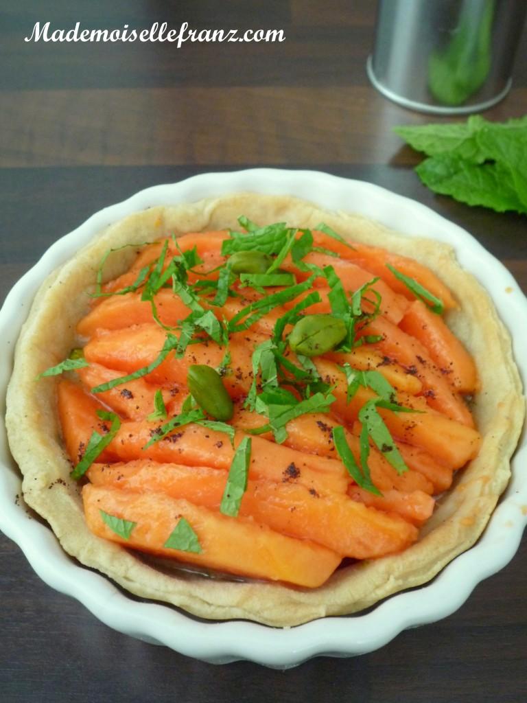 Tartelette papaye menthe pistache