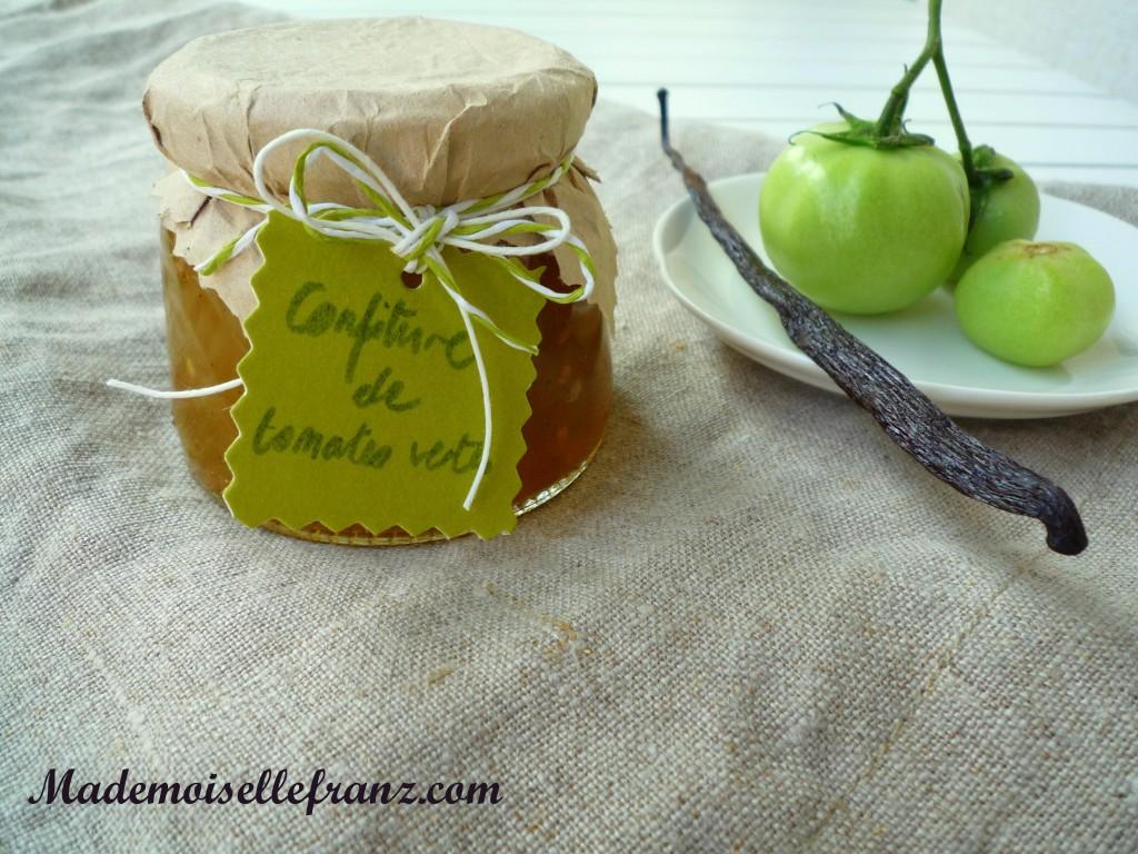 Confiture de tomates à la vanille
