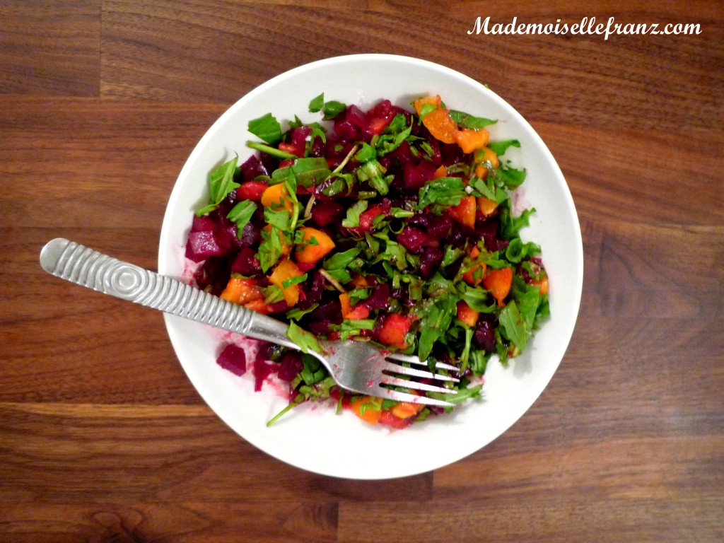 salade betteraves-abricots