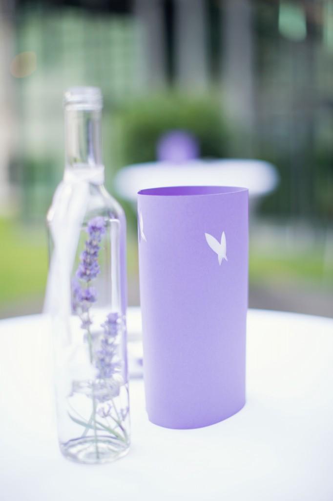 photophore papier et vase bouteille