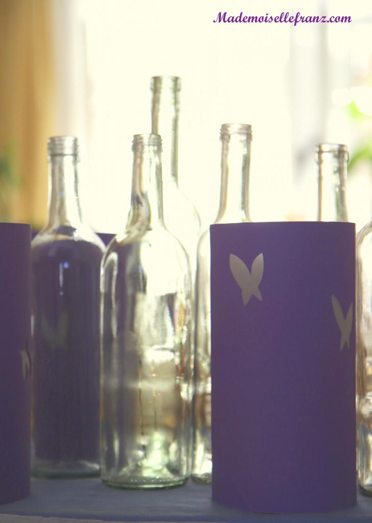 vase bouteille et photophore
