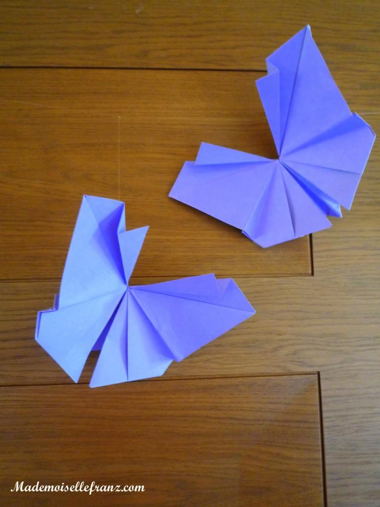 des papillons plein d 39 amour de l 39 origami s 39 invite la f te. Black Bedroom Furniture Sets. Home Design Ideas