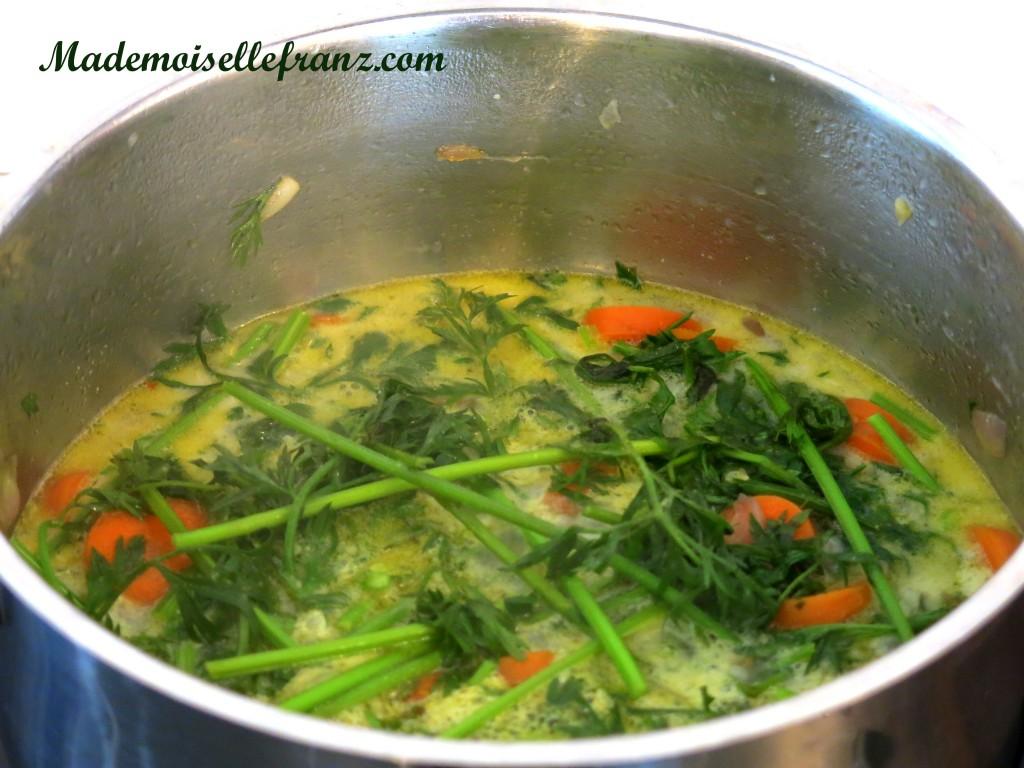 fanes de carottes