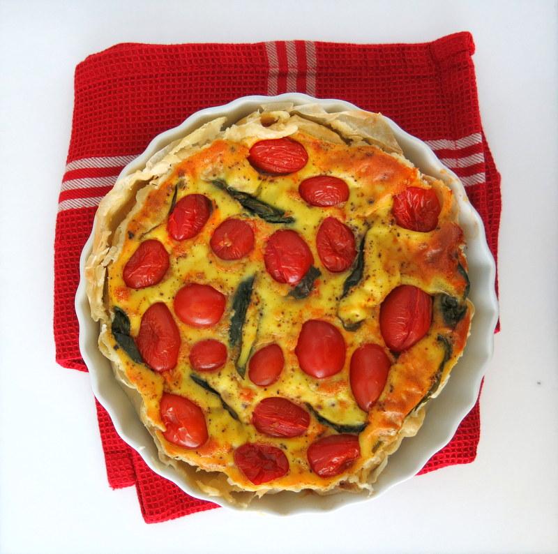Quiche tomate-basilic